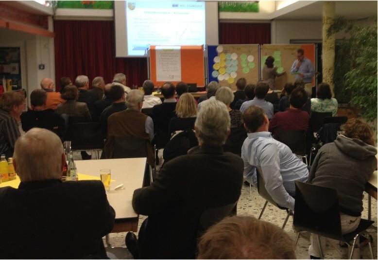 Zukunftswerkstatt in der Aula der Grundschule Reppenstedt (Foto: Holger Dirks)