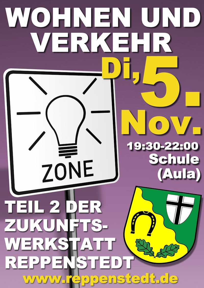 Plakat Wohnen und Verkehr