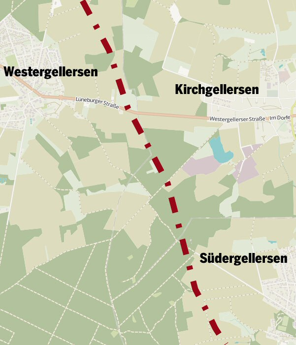 Untersuchte Variante Ashausen-Suderburg