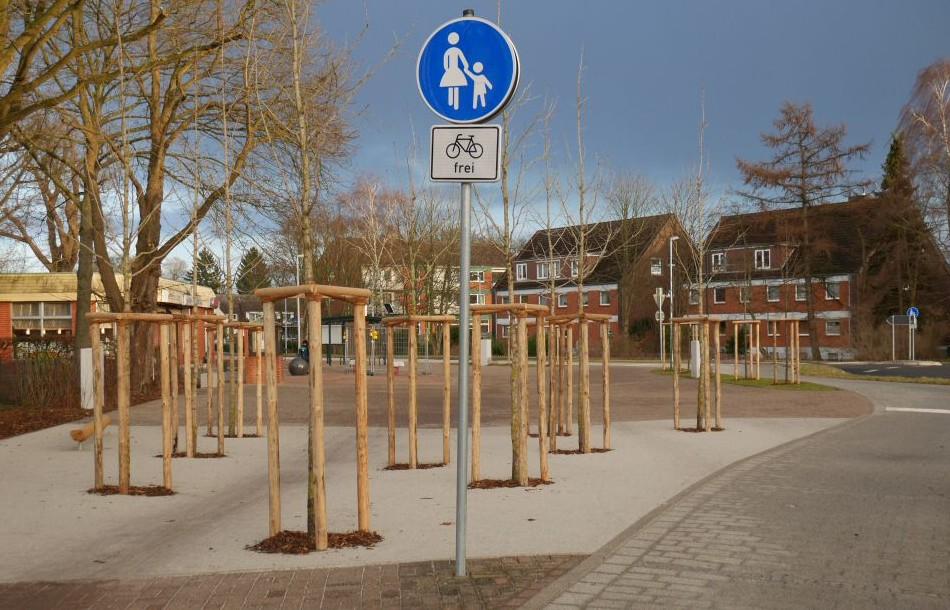 Landwehrplatz Reppenstedt im Februar 2014