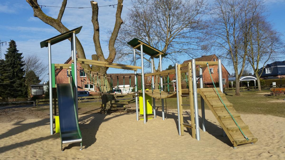 Neue Geräte am Spielplatz Ostlandstraße