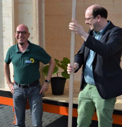 Christian Meyer mit dem OVSprecher Gellersen Oliver Kraemer