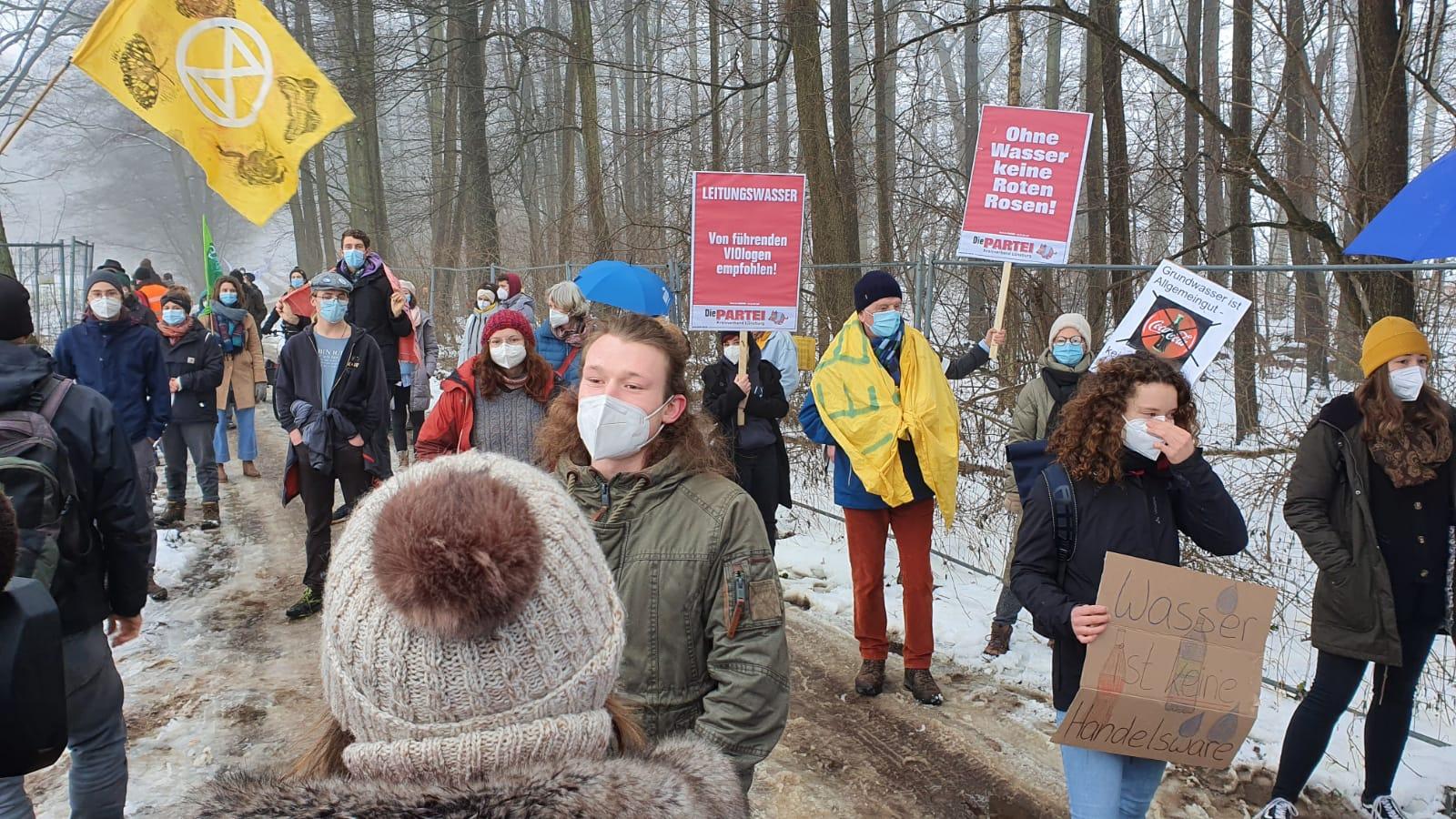 Proteste gegen Pumpversuch